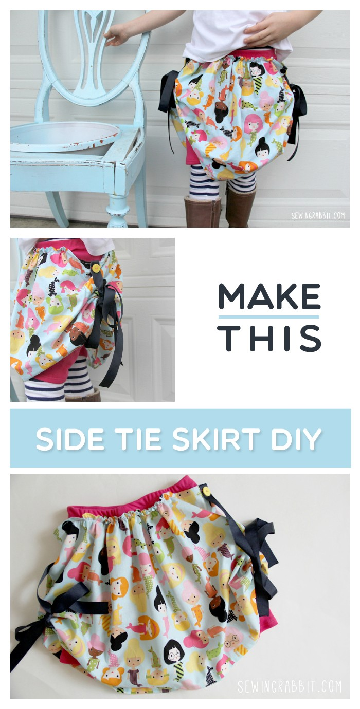 Make this: Side Tie Skirt Sewing DIY