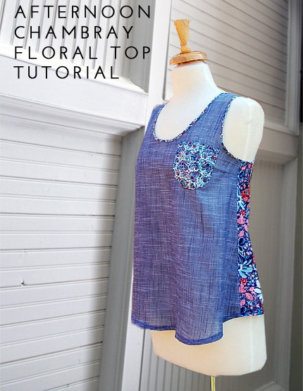 Afternoon Chambray Floral Top DIY