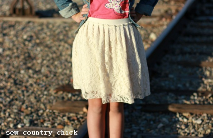 Pleated Lace Elastic Skirt DIY