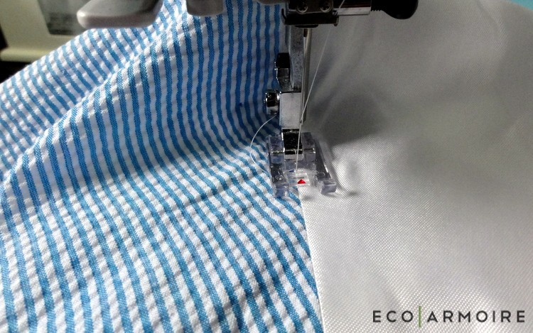 Understitch Neckline - Men's Vest Tutorial EcoArmoire
