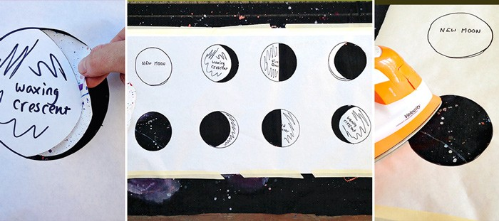 Galaxy Moon Phases Wall Hanging Diy The Sewing Rabbit