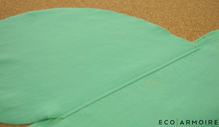Topstitch pocket - EcoArmoire Trompe l'oeil DIY