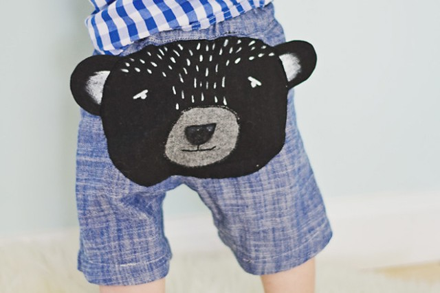Bear Butt Baby Shorts DIY