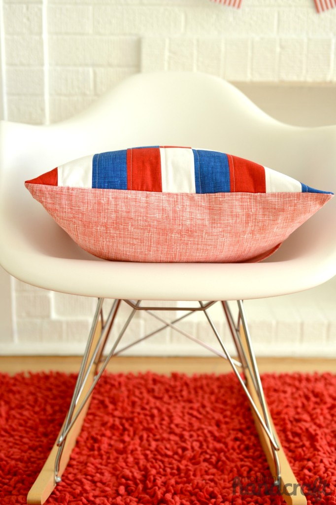 Patriotic Patchwork Pillow DIY