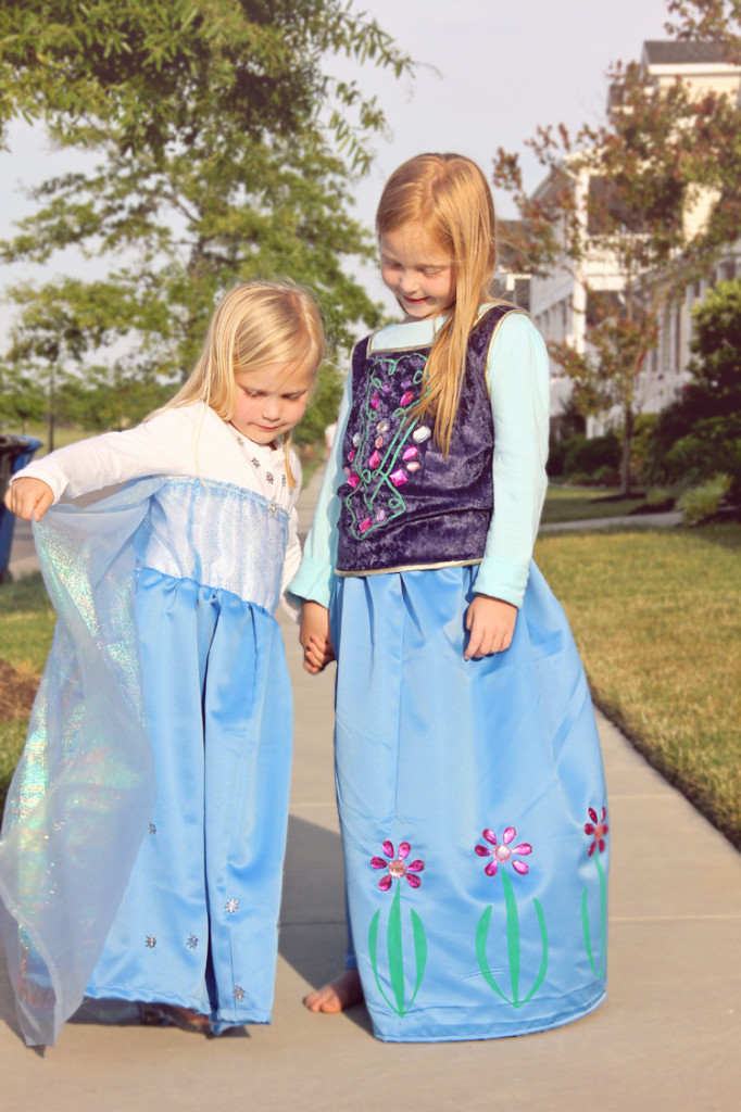 Elsa & Anna Dress Costumes DIY