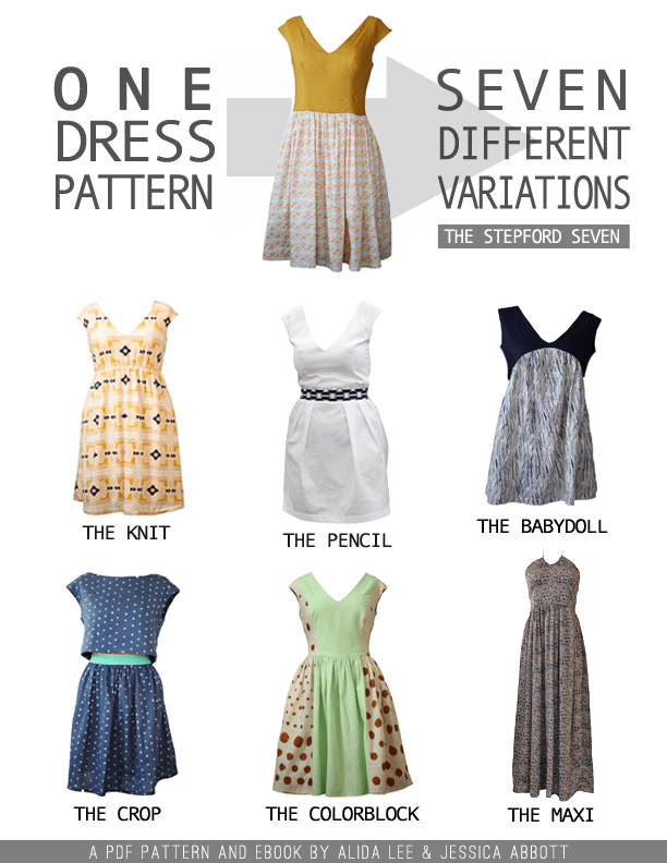 One Dress Seven Variations - the Stepford Seven