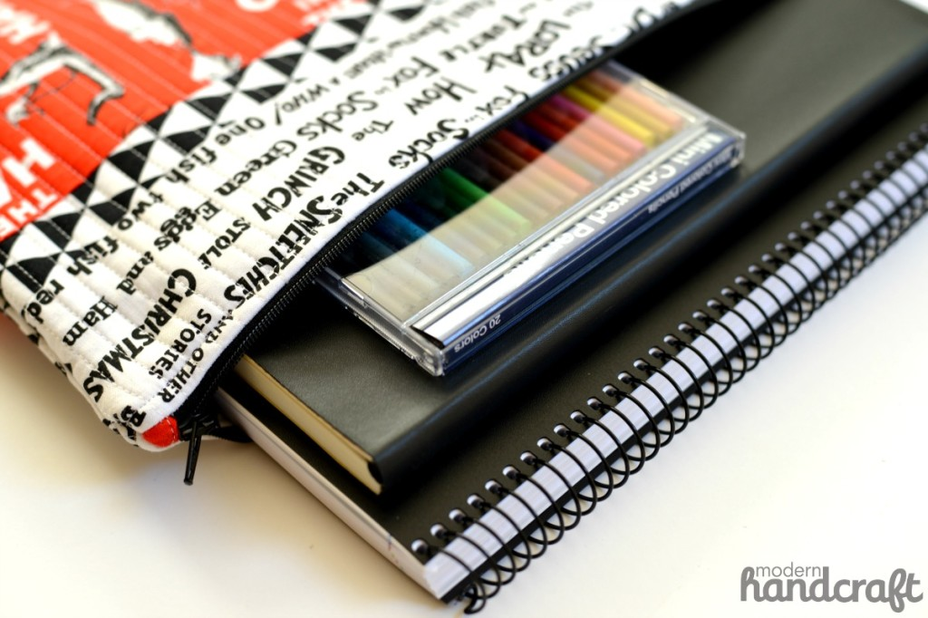 Back to School: MAKE THIS - Quilted File Folder!