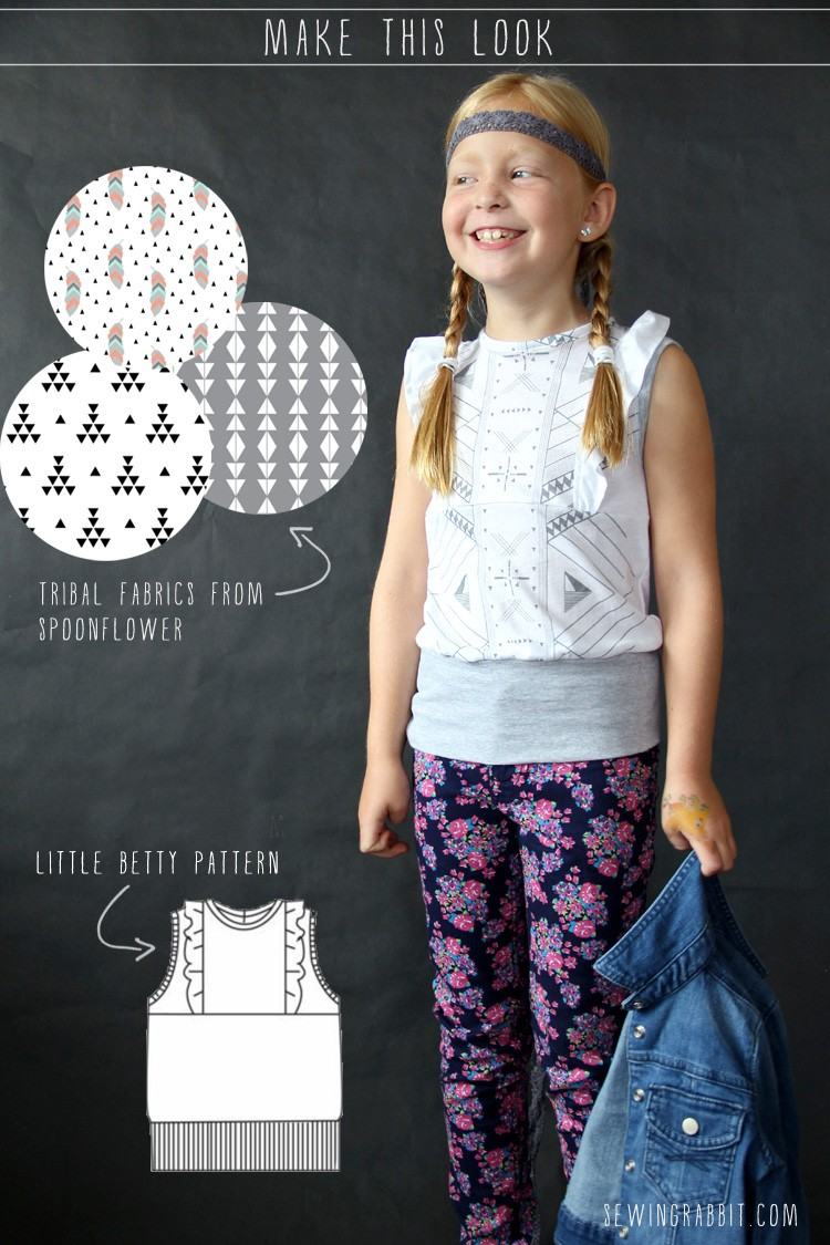 Make this Look: Little Betty Tribal Top Pattern
