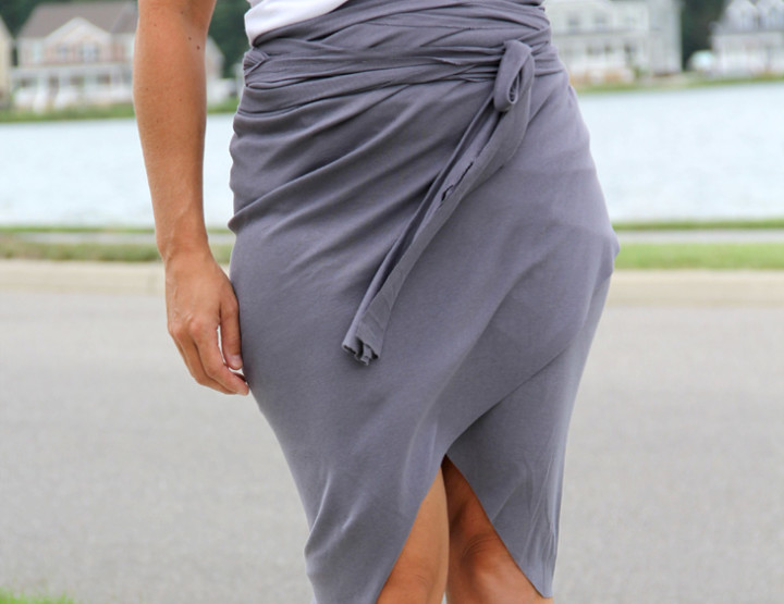 No Sew Wrap Around Tulip Skirt