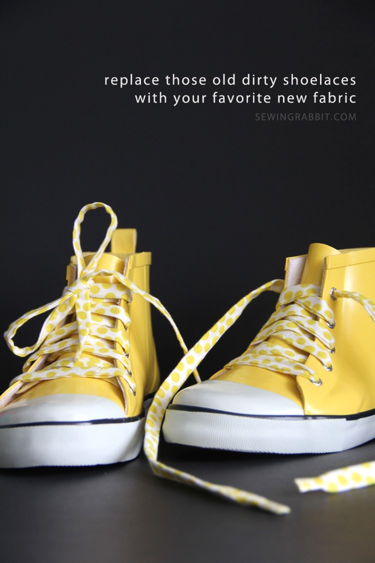 Fabric Shoelace DIY