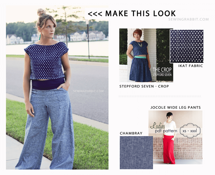 Make this Look - Wide Leg Pants - The Sewing Rabbit