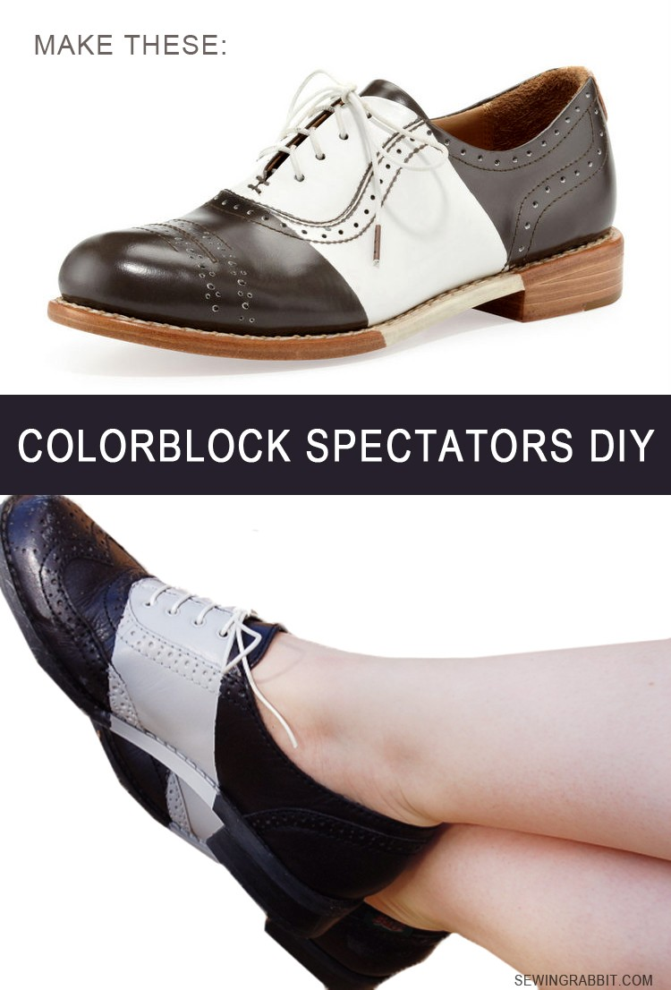 Spectator Shoe DIY, How to Paint on Leather
