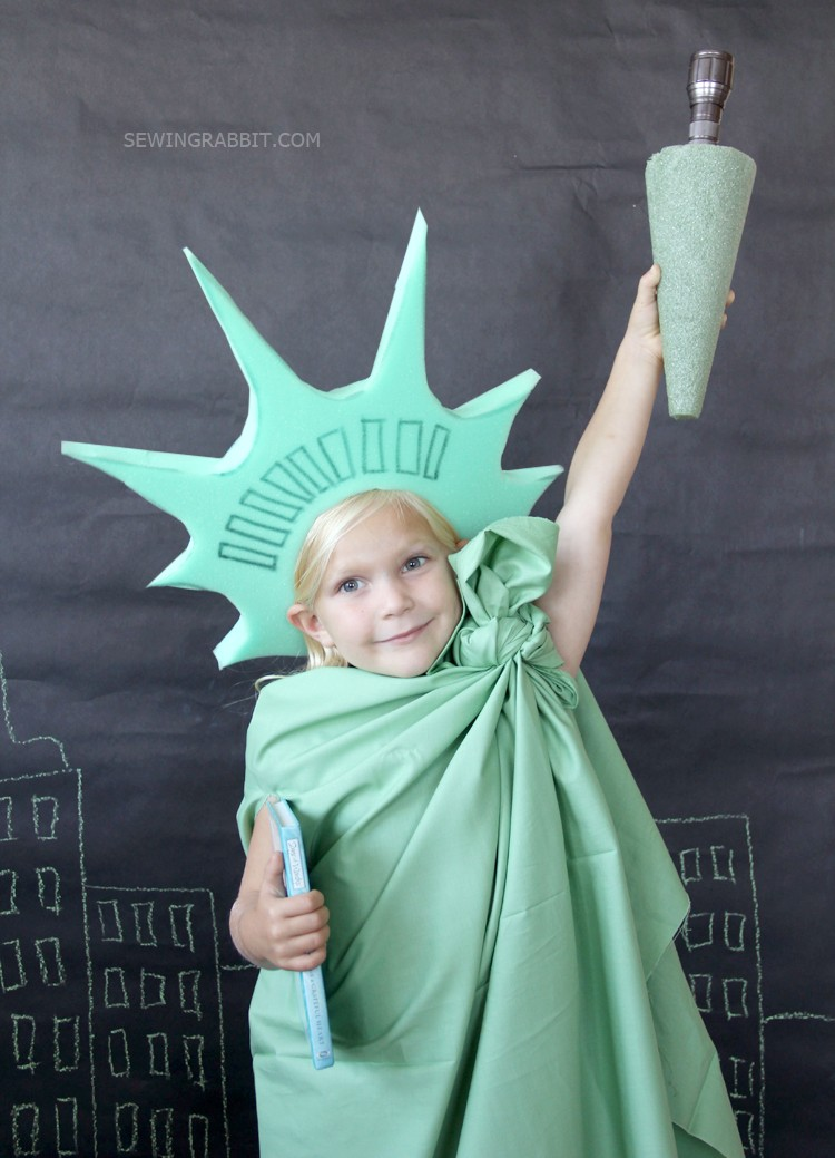 Perfect last minute Halloween costume - the statue of liberty!