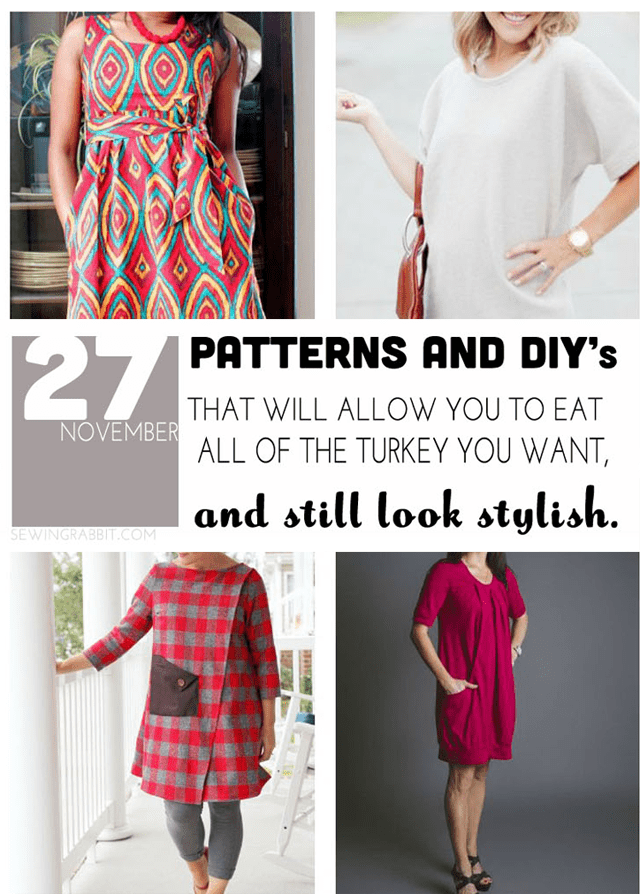 27 Patterns and DIYs for Thanksgiving that will let you eat all of the Turkey you want, and still look stylish