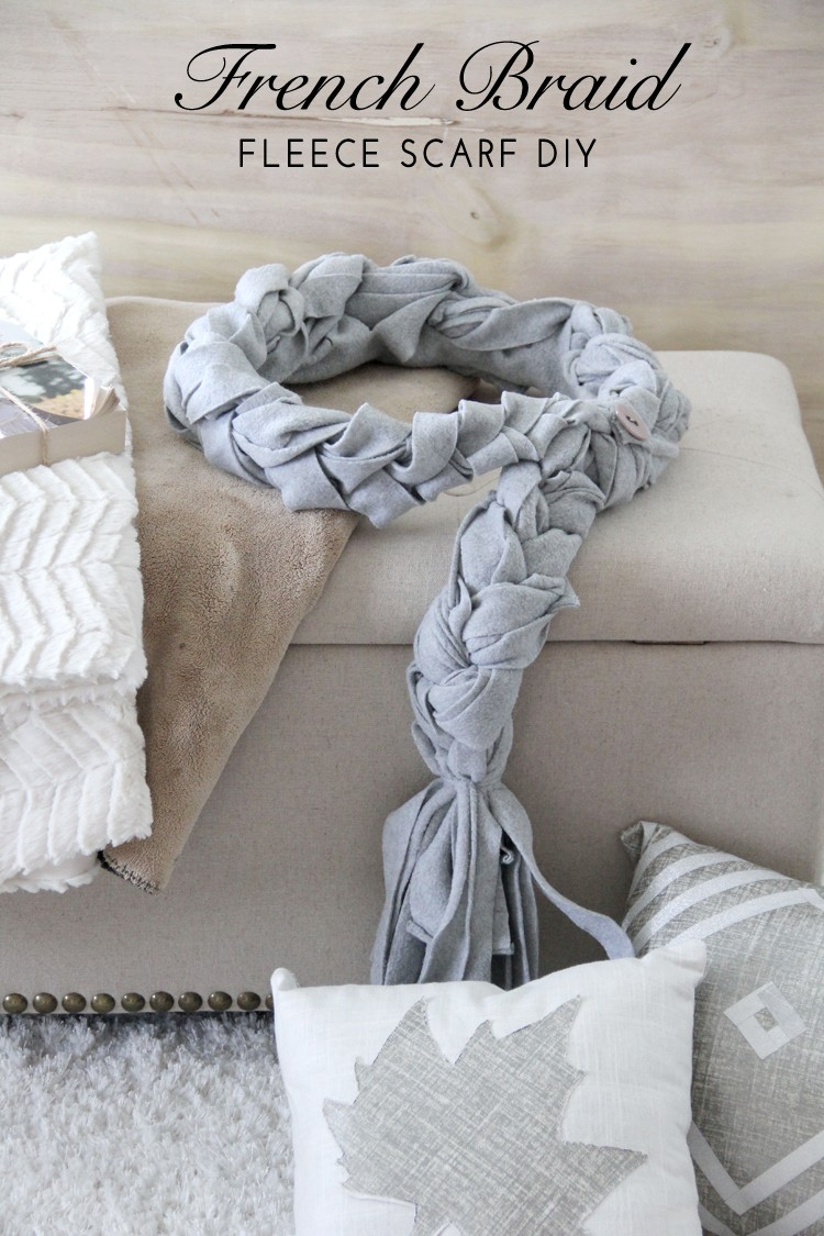 French Braid Scarf DIY