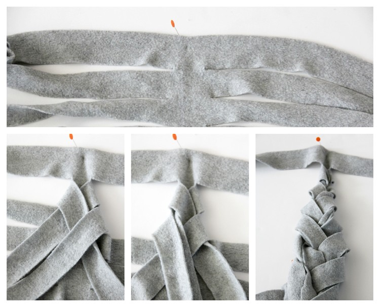 Braided Fleece Scarf Instructions 3