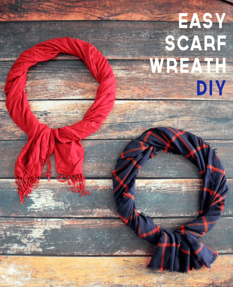 Easy Scarf Wreath