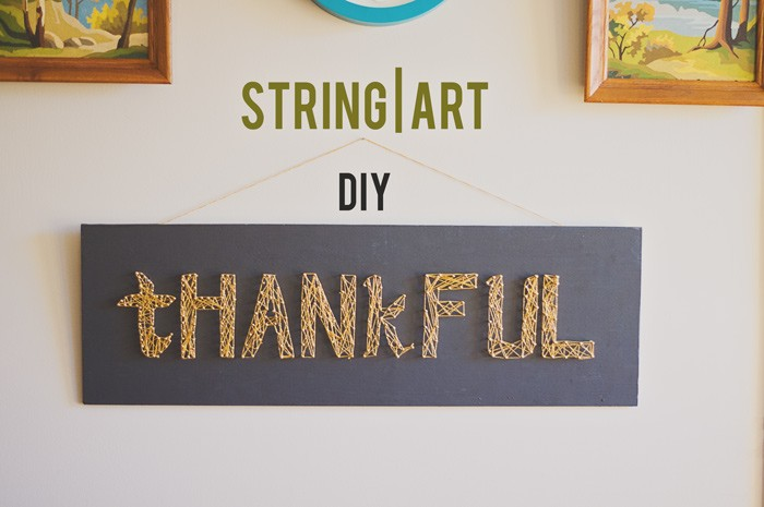 Thankful String Art DIY