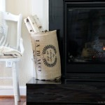 French Grain Sack Basket DIY