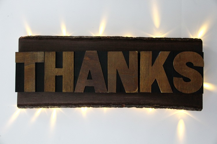 THANKS Backlit sign DIY