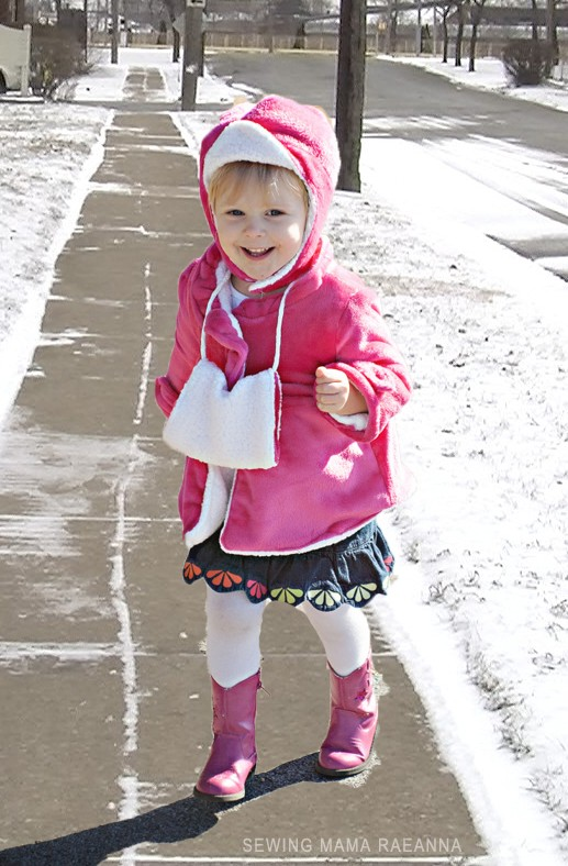 Winter Hand Muff DIY - keep your little one's hands warm this winter in cute style :)