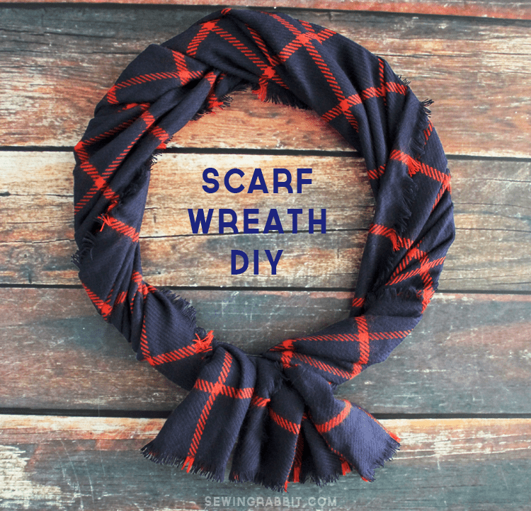 easy scarf wreath DIY