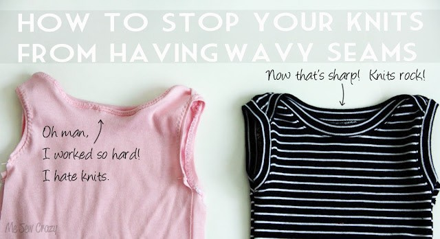 How to End Wavy Knit Seam Syndrome - 10 sewing tips that changed my life