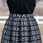 Plaid & Lace Midi Skirt DIY