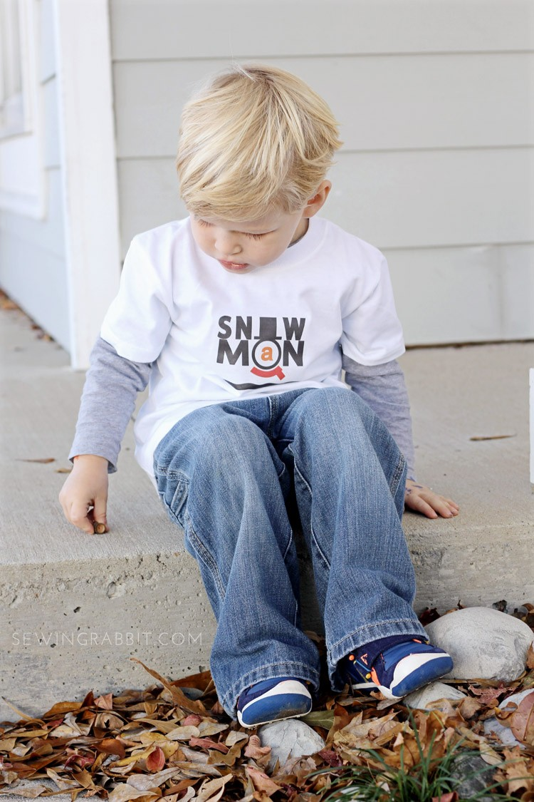 Make your own Snowman T Shirt 'Snowman' downloadable graphic