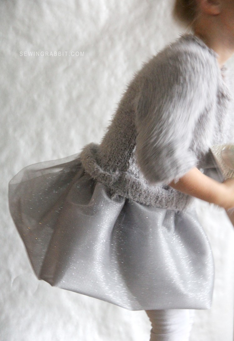 Upcycled Sweater and Tulle Dress DIY