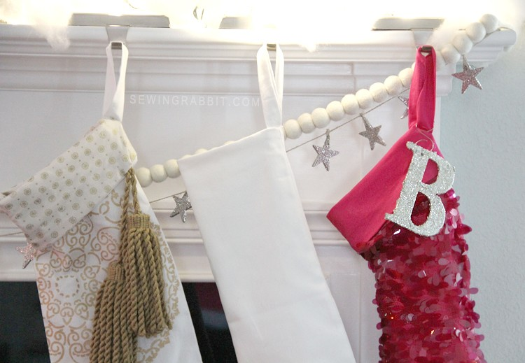 Free Christmas Stocking Pattern, make yours SHINE with sequins!