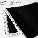 Make up Proof Washcloth - a Machine Binding Tutorial