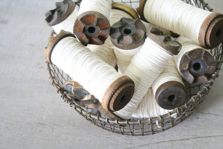 Vintage Bobbin and Twine, Vintage Spool Inspiration