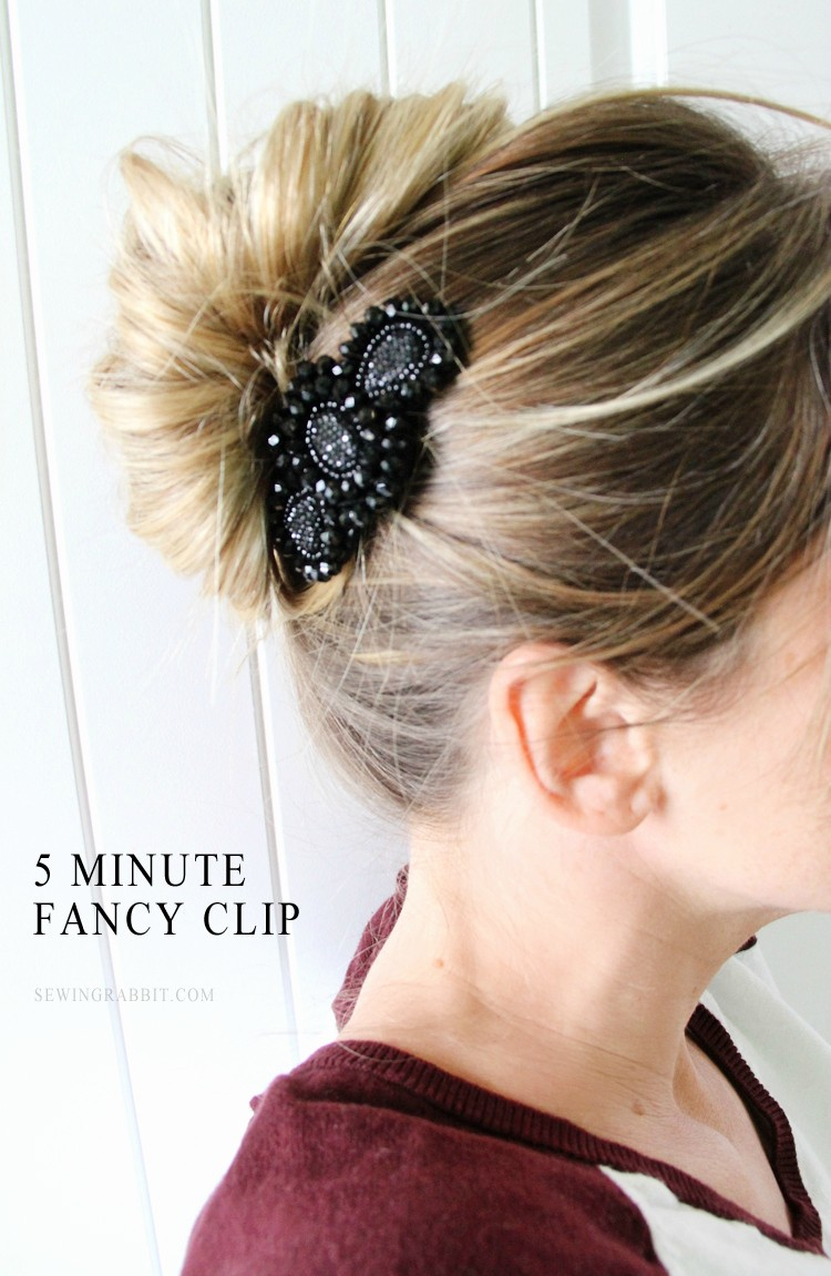 5 minute fancy comb DIY - for when you want to dress up your hair!