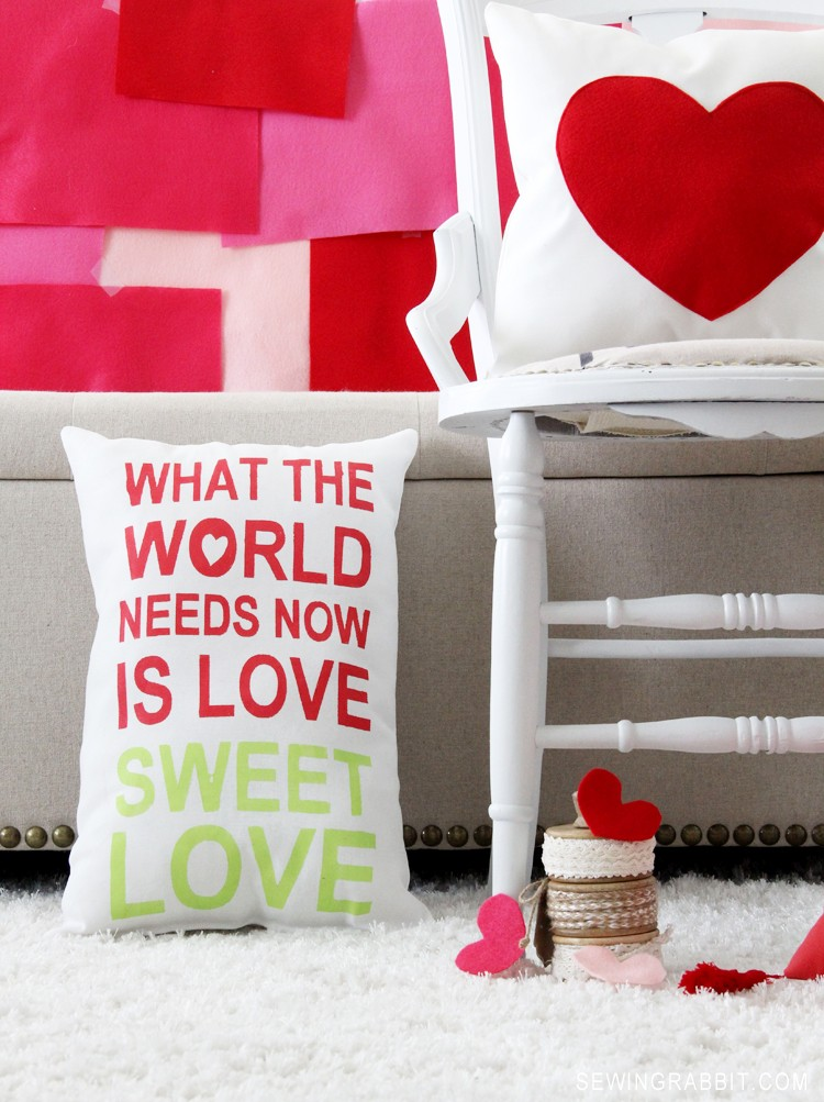 Love Sweet Love Pillow DIY
