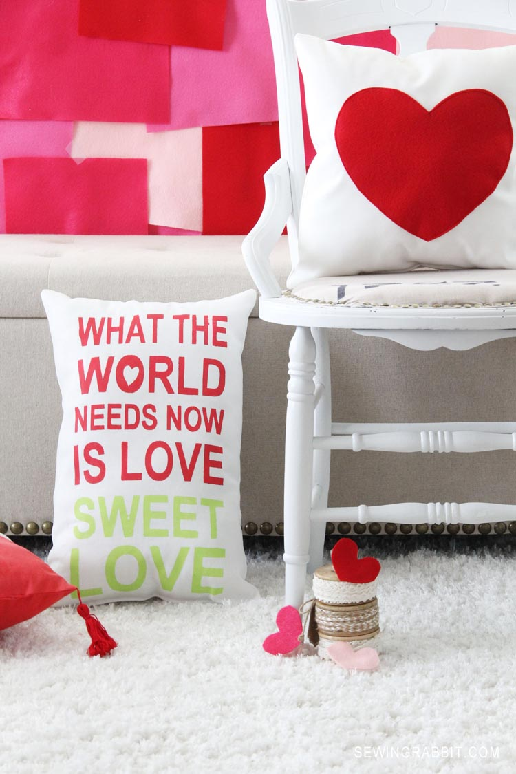 Love Sweet Love, Pillow DIY