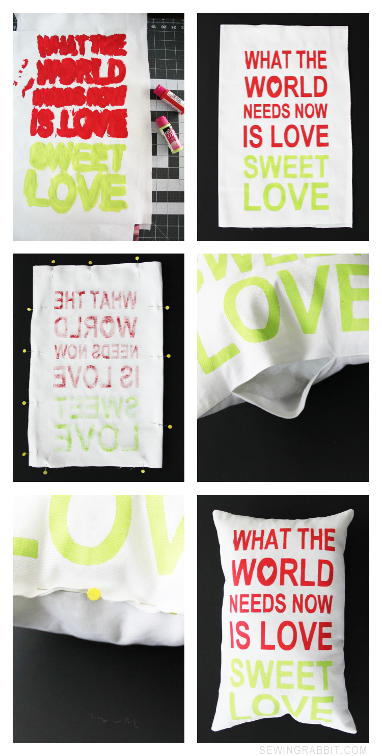MAKE THIS: Love Sweet Love Pillow DIY