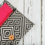 No Sew Placemat Clutch - so easy to make!