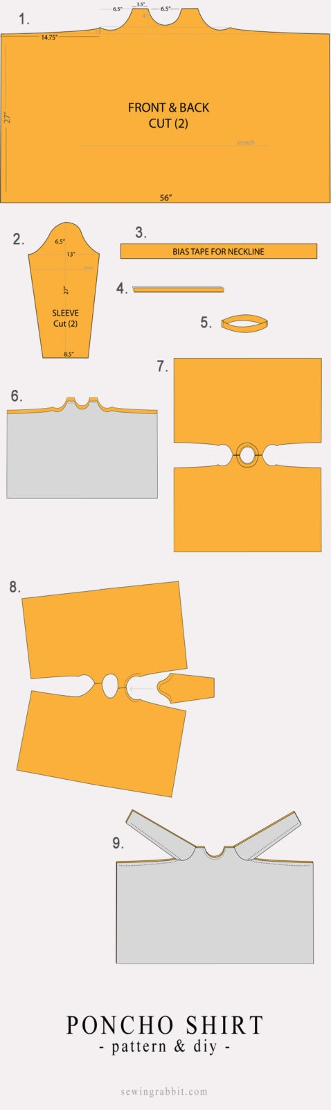 Poncho-Shirt-Instructions