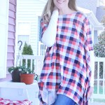 Women's Poncho Shirt with Free pattern
