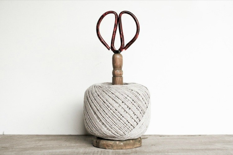 Twine & Scissors Stand, Vintage Spool Inspiration