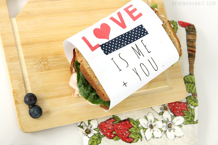 Free Valentine's Day Sandwich Wrapper Printable