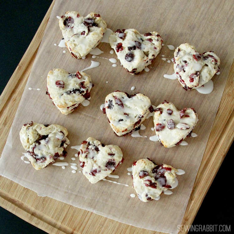 BAKE THESE: Heart Shaped Cranberry Scones