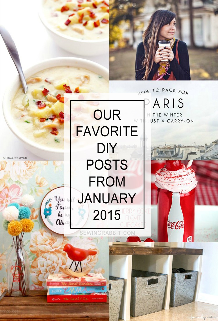 Our favorite DIY articles from the handmade world of January 2015