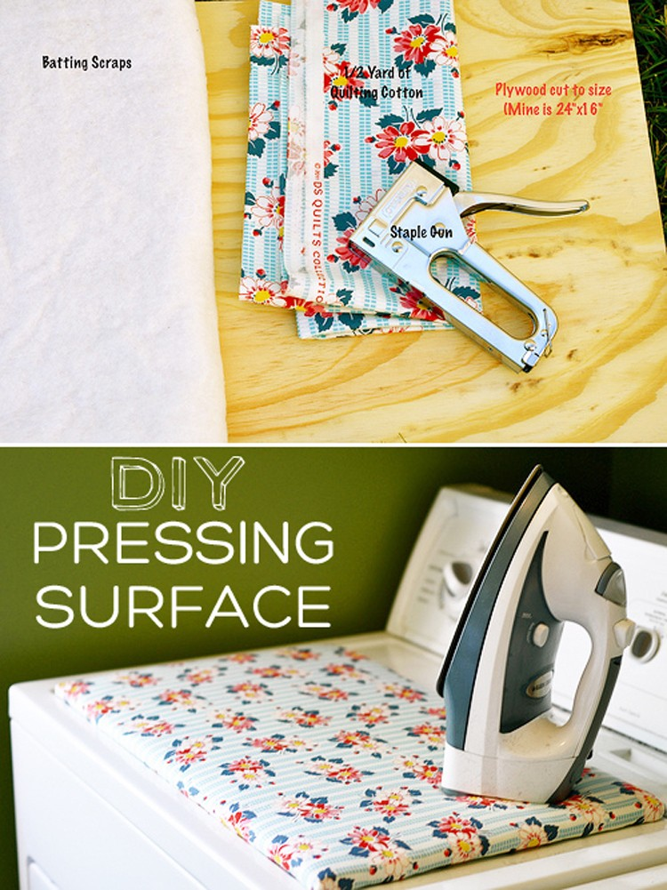DIY Pressing Surface - 11 Cool Ideas for your Ironing Board