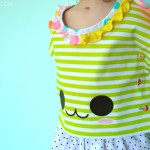 Japanese Mitchiri Neko Shirt DIY, with Free Pattern