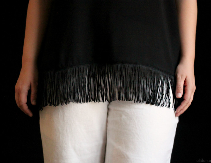 Easy Fringe Tank Top Tutorial
