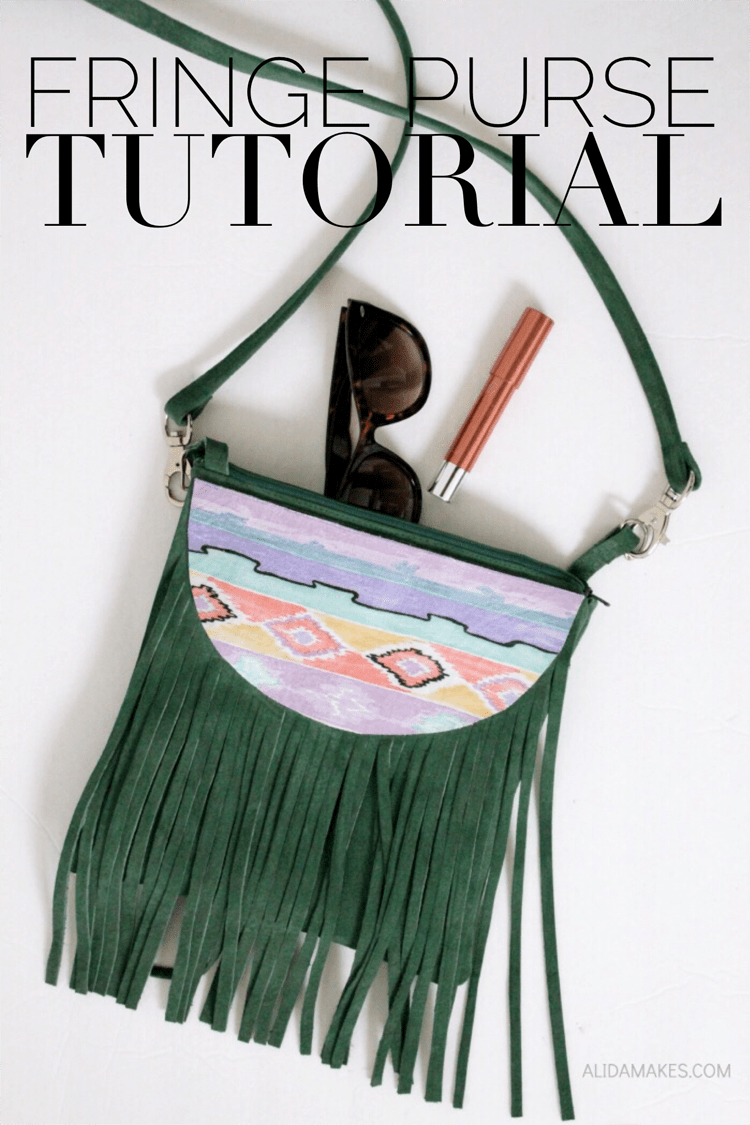 How to make a fringe purse DIY, an awesome sewing tutorial by Alida Makes