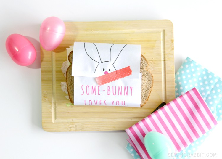 Easter Sandwich Wrapper - Free Printable