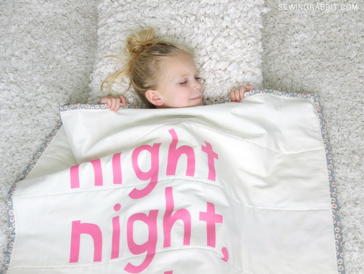 Night Night Darling Girl, a Non-Quilters handmade Baby Blanket DIY